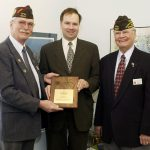 14b knoblach photo getting VFW award